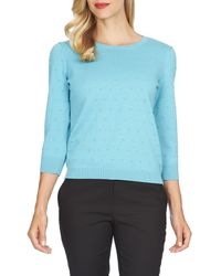 Cece by Cynthia Steffe - Blue Bubble Stitch Sweater - Lyst