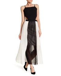 Haute Rogue - Black Cutout Pleated Maxi Dress - Lyst