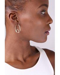 Soko - Metallic Loop Hoop Earrings - Lyst