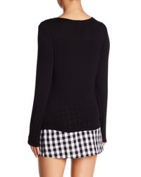 Love, Fire Black Knot Accent Knit Top