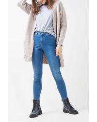 TOPSHOP - Multicolor Long Sleeve Pocket Cardigan - Lyst