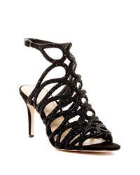 Imagine Vince Camuto Black Plash Sandal