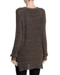 BCBGeneration - Brown V-neck Sweater Tunic - Lyst