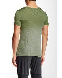Go Couture - Green V-neck Dip Dye Tee for Men - Lyst