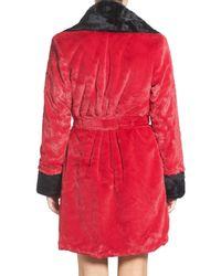 Betsey Johnson - Red Glamour Short Robe - Lyst