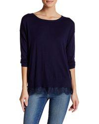 Joie - Blue Hilano Lace Sweater - Lyst