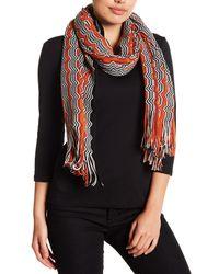 Missoni Multicolor Wool Knit Patterned Stole