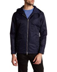 GANT | Blue Short Parka Coat for Men | Lyst