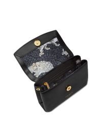Ted Baker - Black Leorr Looped Bow Micro Leather Crossbody Bag - Lyst