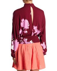 Free People Red Say You Love Me Blouse