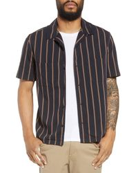 Vince Multicolor Vintage Stripe Cabana Woven Shirt for men