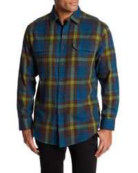 Pendleton - Blue Bridger Twill Plaid Regular Fit Shirt for Men - Lyst