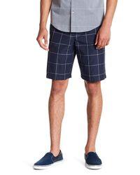 Original Penguin Blue Windowpane Bermuda Shorts for men