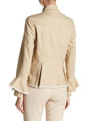 Nanette Nanette Lepore - Natural Peplum Military Flare Sleeved Jacket - Lyst