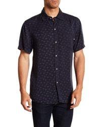 Sol Angeles Blue Palmfetti Short Sleeve Woven Shirt for men