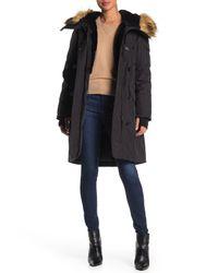 Sam. Black Luxe Alaska Faux Fur Trimmed & Lined Parka