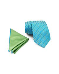 Ted Baker - Blue Remy Neat Silk Tie & Pocket Square Set for Men - Lyst