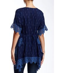 Johnny Was - Blue Laura Embroidered Velvet Tunic - Lyst