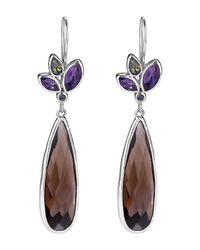 Lori Bonn | Multicolor Pizzazz Sterling Silver Teardrop Earrings | Lyst
