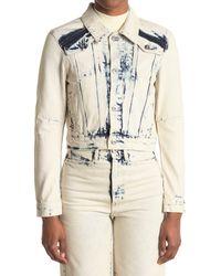 Proenza Schouler Natural Bleached Crop Denim Jacket