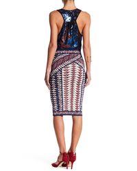 BCBGMAXAZRIA - Multicolor Neon Triangles Pencil Skirt - Lyst