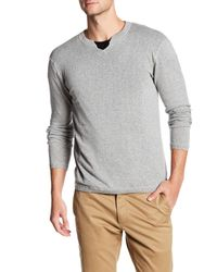 Autumn Cashmere | Gray Long Sleeve V-neck Tee for Men | Lyst