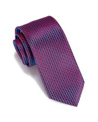 Perry Ellis - Red Helton Mini Check Tie for Men - Lyst