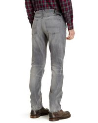 "Lucky Brand - Gray 121 Heritage Slim Fit Jean - 30-34"" Inseam for Men - Lyst"