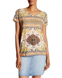 Lucky Brand - Multicolor Print Short Sleeve Tee - Lyst