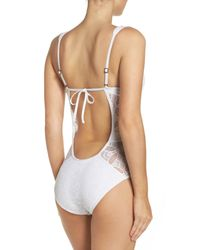 Becca | White Color Play One-piece Swimsuit | Lyst