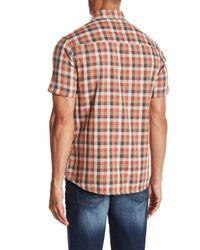 Jeremiah Multicolor Nomad Reversible Plaid Short Sleeve Shirt for men