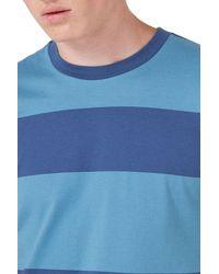 Topman - Blue Stripe T-shirt for Men - Lyst