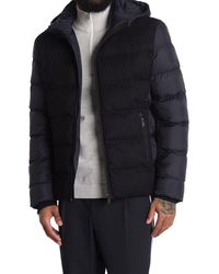 Reiss Blue Meyrim Hooded Quilted Jacket for men