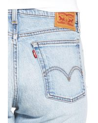Levi's Blue (r) Wedgie Straight Leg Jeans (clouded Consciousness)