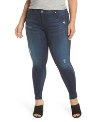Kut From The Kloth Blue Donna Release Hem Ankle Skinny Jeans (plus Size) (civility)