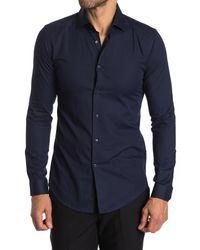 Reiss Blue Control Slim Fit Shirt for men