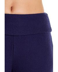 Three Dots - Blue Thia Ribbed Knit Sweatpants - Lyst