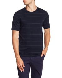 Theory Blue Clean Dash Striped Tee for men