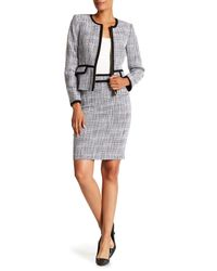 Calvin Klein Multicolor Crosshatch Tweed Pencil Skirt