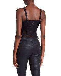 BCBGMAXAZRIA Black Lace Bodysuit