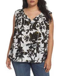 Caslon - Black Caslon Print Sleeveless Top - Lyst