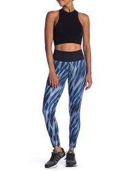Adidas Blue High Waist Long Leggings