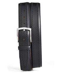 Allen Edmonds Black Manistee Brogue Leather Belt for men