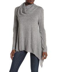 Love Token Gray Candice Cowl Neck Sweater