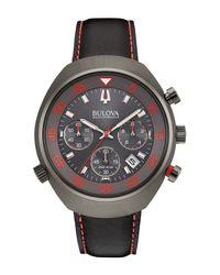 Bulova Multicolor Men's Chrono Leather Strap Watch, 45mm for men
