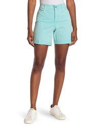 NYDJ Blue Avery Colored Roll Cuff Denim Shorts