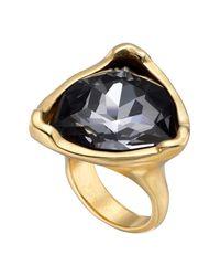 Uno De 50 Gray Star-tremendous Bezel Set Swarovski Crystal Accented Ring
