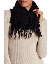 Shiraleah Black Adrienne Knit Fringe Infinity Scarf