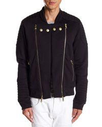 Balmain - Black Zipper Sweatshirt for Men - Lyst