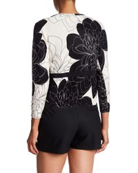 Tracy Reese - Black Print Belted Cardigan - Lyst